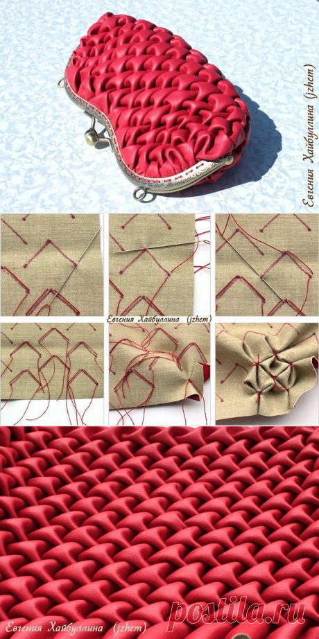 How to make a handbag with puffs. Photo instruction.
