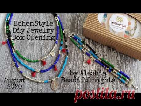 BohemStyle Diy Jewelry Box Opening August 2020