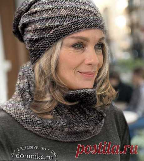 Стильные шапки и береты спицами для женщин 50 лет - 12 моделей с описанием на зиму