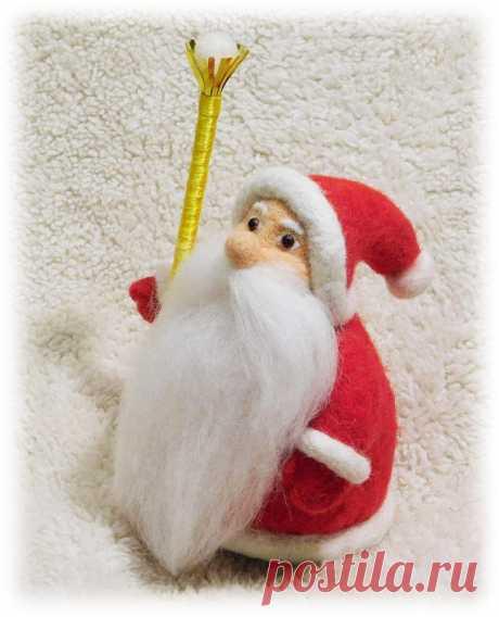 Дед Мороз:) из теплой шерсти! Weihnachtsmann Väterchen Frost Weihnachtsmann