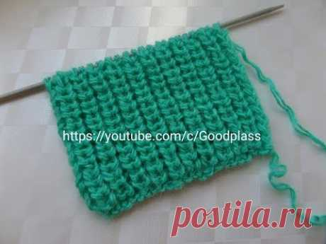 Pattern Semi-English elastic band knitting by spokes. Knitting(Hobby).