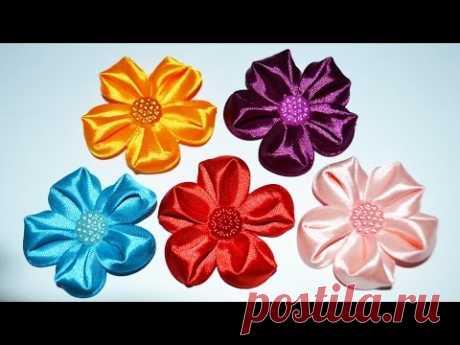 Пятилистники Канзаши. Flowers of the tapes