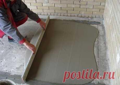 """Как правильно сделать бетонную стяжку по маякам   Журнал """"JK"""" Джей Кей Стяжка пола представляет собой бетонную основу для напольного покрытия. Необходимость в создании бетонной стяжки возникает тогда, когда перед отделочными работами"""