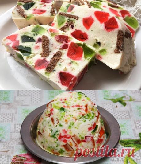 Рецепт желейного торта «Уральские самоцветы» — Фактор Вкуса
