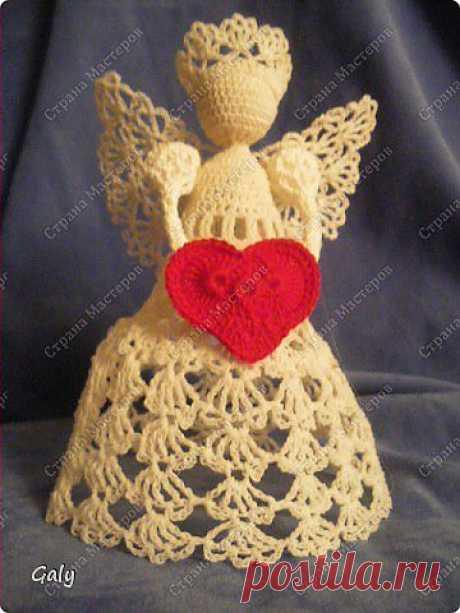 Сердечный ангел Вязание крючком » ProstoDelkino.com - поделки своими руками.