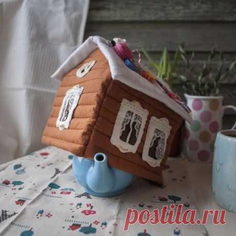 Пряничный домик из ткани