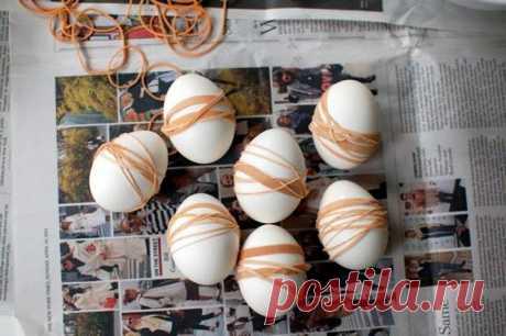 10 modos de la coloración de los huevos a la Pascua por el pellejo de cebolla | Mágico Eда.ру