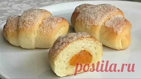 Вкуснее чем пирожки, постные рогалики с курагой/Lean bagels with dried apricots