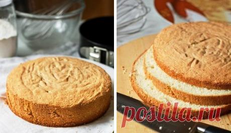 Бисквит который получается всегда Ингредиенты: Масло сливочное — 300 г