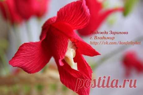Мастер-класс от Надежды Зариповой - Конфетный Тюльпан.