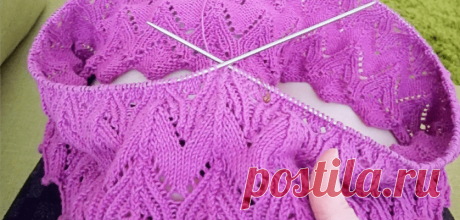 Вязание платья по кругу красивым узором | Вяжем Тут