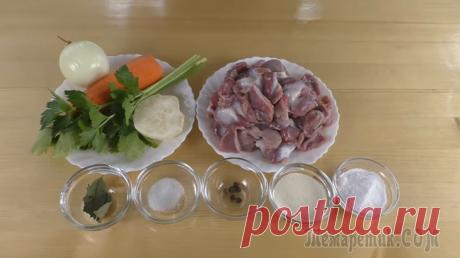 Бюджетно! Засыпаем куриные желудочки содой и получаем праздничную закуску за 100 рублей