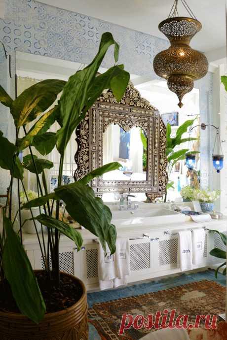 Восхитительные интерьеры ванных комнат в восточном стиле