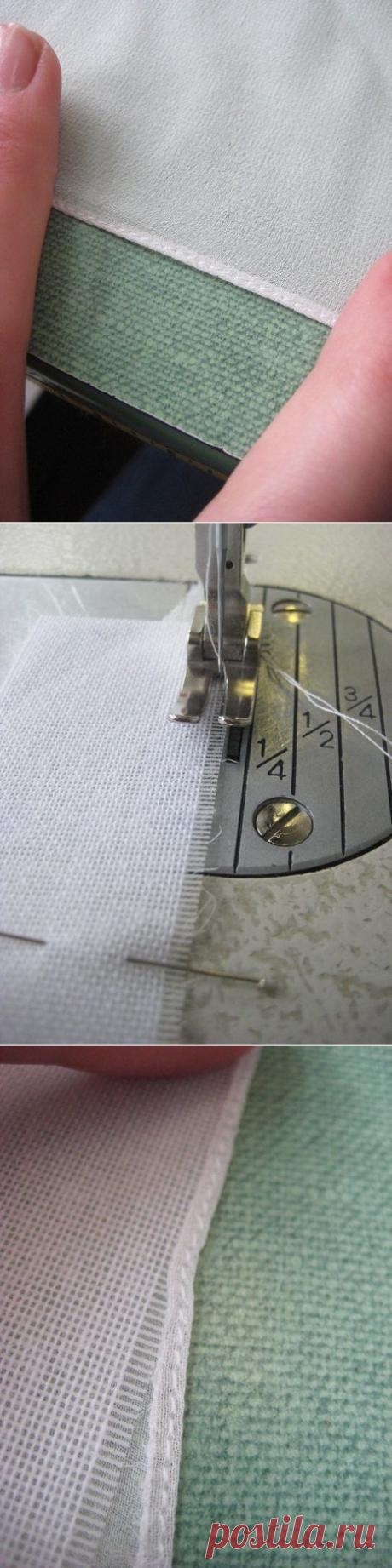 Как подшить шелк, шифон, органзу — Сделай сам, идеи для творчества - DIY Ideas