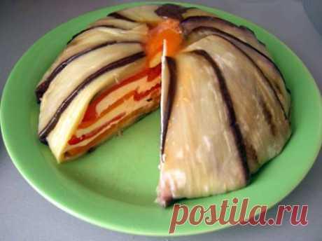 Блюда из баклажан - лучшие рецепты -приготовления.-Террин из баклажанов и перцев