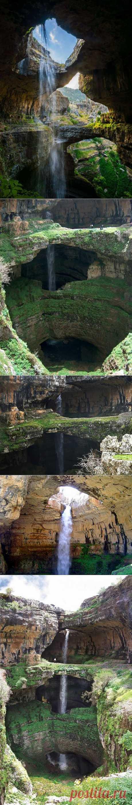 Фантастический водопад Баатара в Ливане | ТУРИЗМ И ОТДЫХ