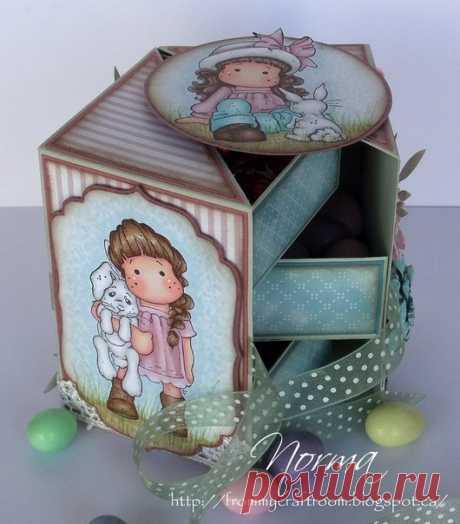 Милая коробочка с секретом — Сделай сам, идеи для творчества - DIY Ideas
