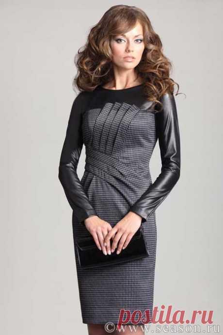 Шьем дизайнерское комбинированное платье. Подробный мастер-класс
