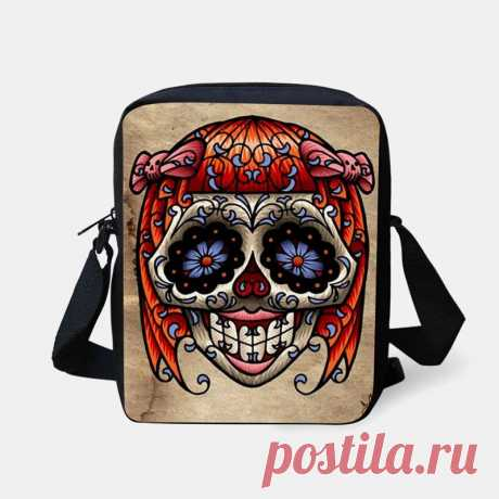 Children Halloween Style Dressed Cute Skull Pattern Crossbody Bag For Carry Cand - US$17.99