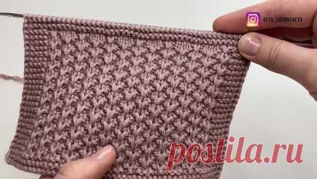 Самый красивый узор для вязания кардигана, джемпера и свитера
