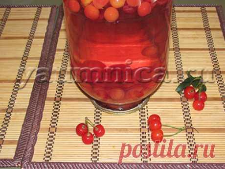 вишневый компот на зиму рецепт - Пошаговые рецепты с фото