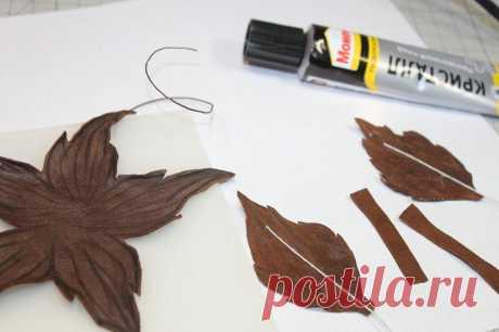 Делаем брошь-цветок из кожи «Тиффани»