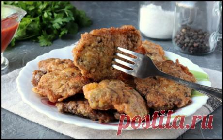 Отбивные из куриной печени — рецепт вкусного мясного блюда!