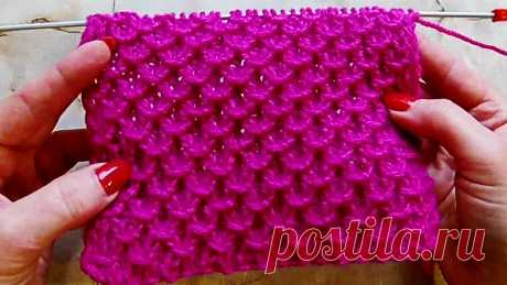 Relief pattern Knitting by spokes the Video lesson 250 - YouTube