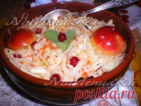 Квашеная капуста с яблоками: рецепт