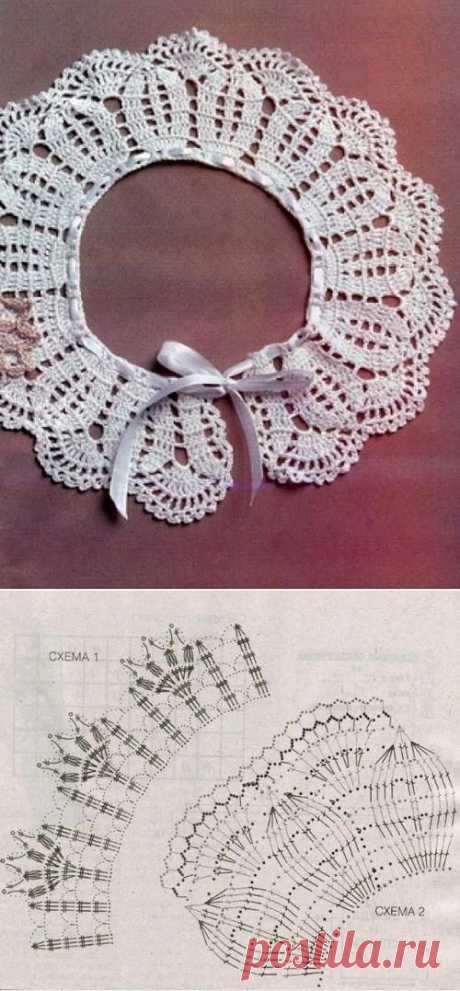 Съемный воротник своими руками: 5 вариантов. Инструкции как сделать воротник из рубашки, как сшить воротник по выкройке, как связать воротник крючком.