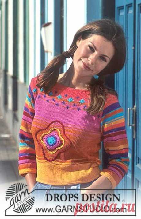 DROPS 68-22 - Free knitting patterns by DROPS Design DROPS Pullover in Muskat