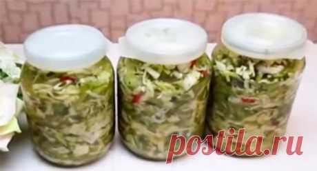 Очень вкусные салаты из зелёных помидоров на зиму (без стерилизации)