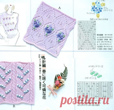 Patterns with an embroidery and beads
