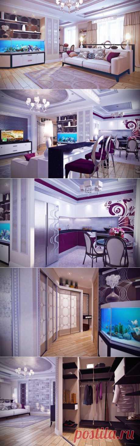 (+1) тема - Дизайн двухкомнатной квартиры в Донецке   Интерьер и Дизайн