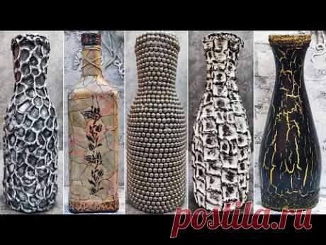 7 идей декора бутылок своими руками