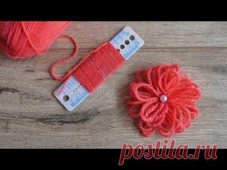 Легкий цветок с помощью линейки | Easy Flower Embroidery Trick with Scale | Bir cetvelle kolay çiçek