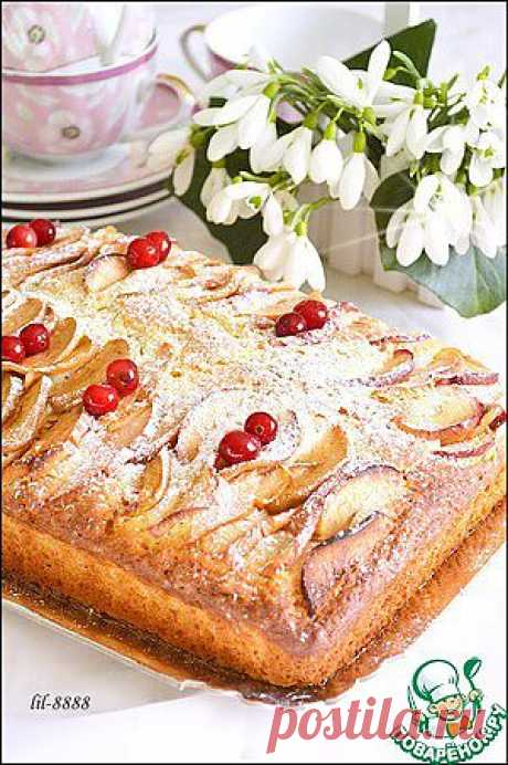 Пирог с яблоками - кулинарный рецепт