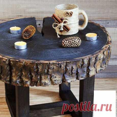 Журнальный столик из спила 100-летнего дерева – заказать на Ярмарке Мастеров – HX8LXRU | Столы, Казань