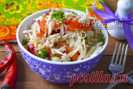 Быстропоедаемый овощной салат, рецепт с фото