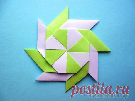 Оригами звезда - трансформер из бумаги