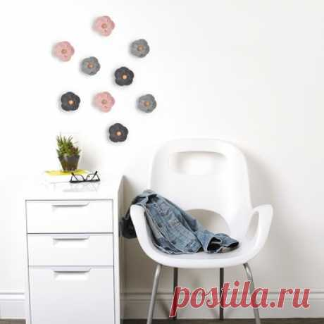 Декор для стен (9 штук) FELTRA FLOWER разноцветный разноцветный арт. 472014-022 по цене 2450,00 руб. – большой выбор товаров в разделе от известного бренда Umbra на Fabika.ru!
