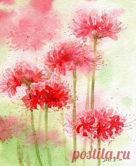 Рисуем цветы акварелью Рисуем цветы акварельюРисуем цветы акварелью, чтобы даже самые серые будни поздней осени были пропитаны яркими красками счастья.