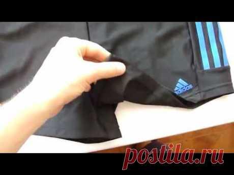 Плавки-боксеры Adidas INFINITEX+ (Черные с синими полосками) 500грн