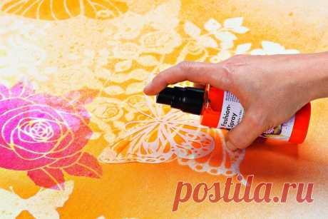 Роспись по ткани акриловыми красками в домашних условиях