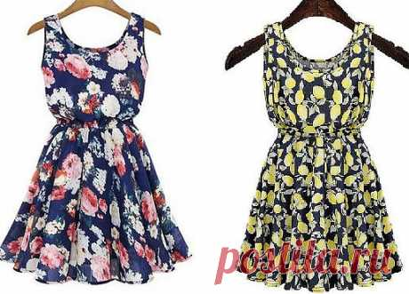 Pattern of a simple summer dress (Sewing and cut)
