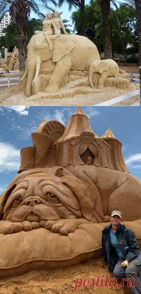 Лучшие фотографии со всего света - Гигантские скульптуры из песка Сюзанны Руселер