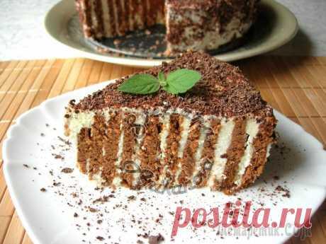 Полосатый торт без выпечки. Вкусный и быстрый десерт! Хочу предложить вам очень вкусный торт без выпечки, с необычным названием «Полосатый». Готовятся такие торты очень быстро и очень легко, но получаются они всегда вкусными и всегда достойно смотрятся н...