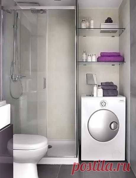 Идеи для небольшой ванной комнаты — Интерьер и Декор