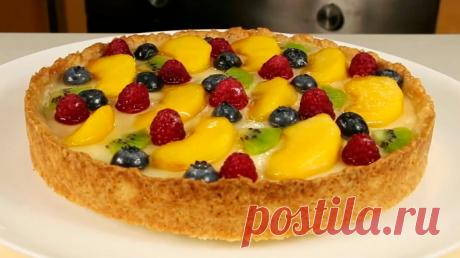 Фруктовый тарт со сметанной начинкой - Фартук - лучшие рецепты домашней кухни