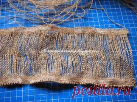 how to make flower from burlap